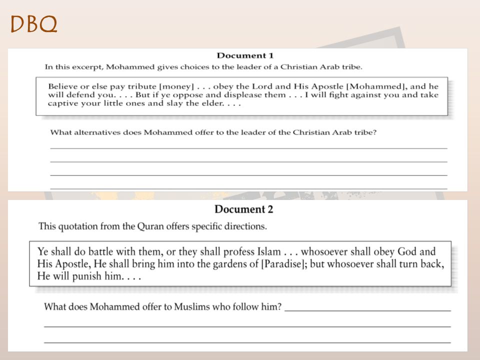 Islam Finish up on page 13 in Notes Packet