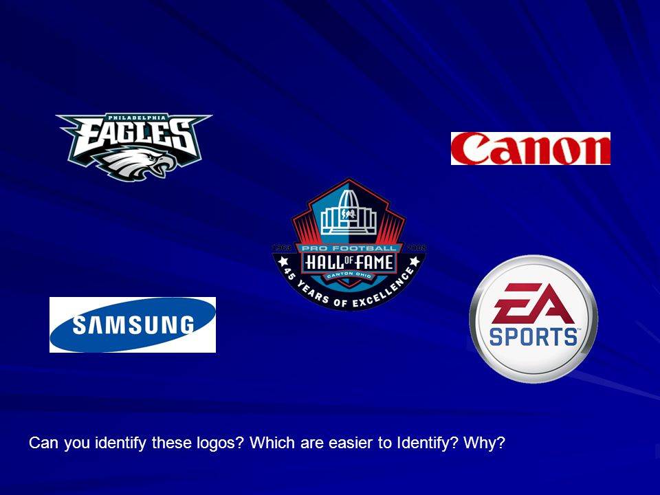 Can you identify these logos? Which are easier to Identify? Why?