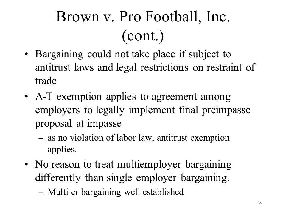 3 Brown v.Pro Football, Inc.