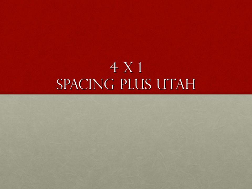 4 x 1 Regular Spacing UtahCopRanger