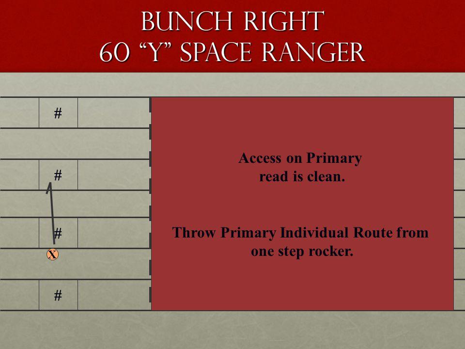 4 x 1 Spacing plus Ranger