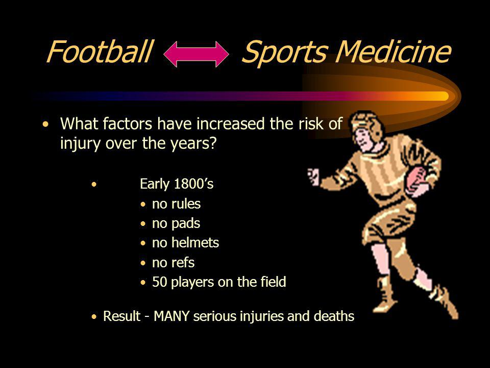 Football Sports Medicine What factors have increased the risk of injury over the years.