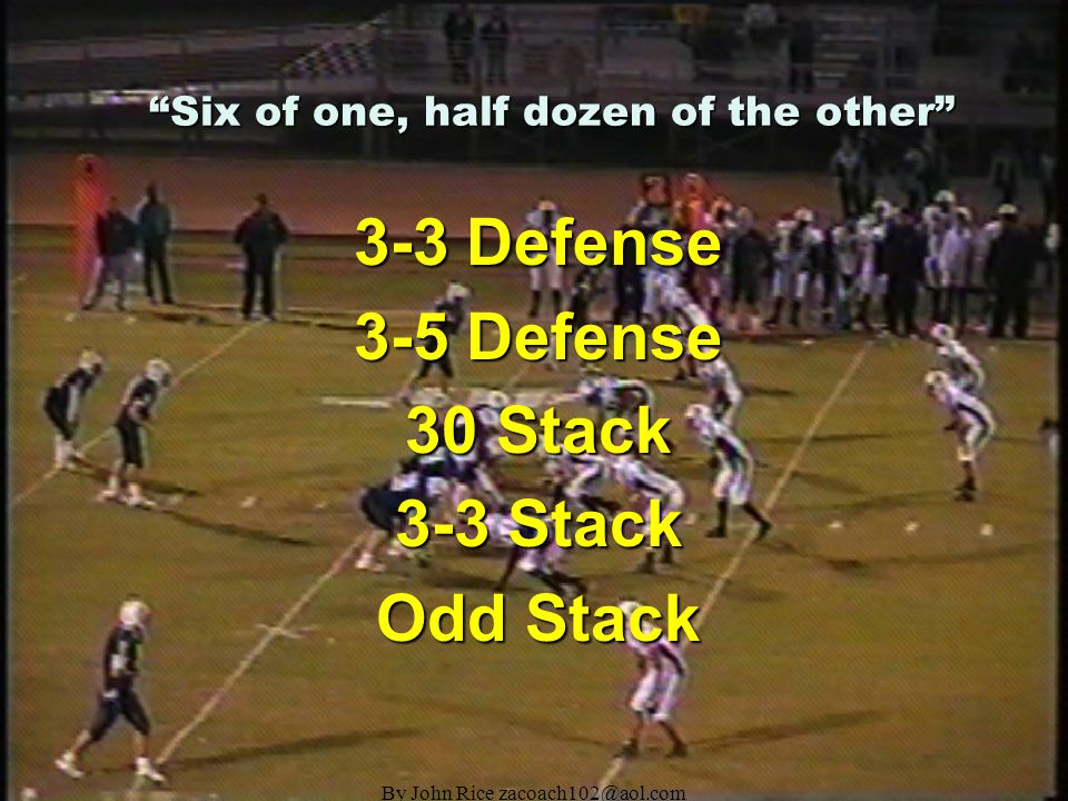 By John Rice zacoach102@aol.com We are playing the 3-3 with the following defensive philosophy: 5.Offenses operate on rhythm, that rhythm MUST be disrupted.
