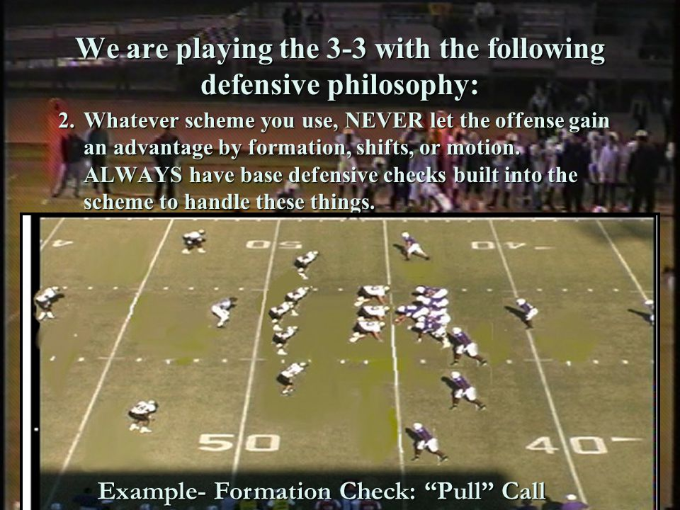 By John Rice zacoach102@aol.com Websites books, & articles about or with content dealing with the 3-3 defense Coaching Footballs 3-3-5 Defense By Leo Hand and Rick Molina 101 3-5 Stunts By Leo Hand http://www.chttp://www.coacheschoice.com Manual by Jerry Campbell http://www.jcfb.com/ Articles online: Georgia Military Colleges Devastating 3-5 Defense By Bert Williams, Head Football Coach http://www.americanfootballmonthly.com/Arena/NS_Magazine/Current/GMC.html SHARKS IN THE WATER COACHING LINEBACKERS TO ATTACK IN THE 3-3 DEFENSE By Ron Roberts http://americanfootballmonthly.com/Subaccess/Magazine/2005/mar/delta.html Command of the Line Georgia Military Colleges Applications of the 3-5-3 Defense By Taylor Burks Defensive Coordinator, Georgia Military College http://americanfootballmonthly.com Coaching Nickel & Dime Defenses Defending the Spread Offense *Both have sections on the 3-3 defense Books by John Rice http://www.coacheschoice.com http://www 30 Stack Forum (Coach Jerry Campbell Website) www.jcfb.com MULTIPLE 3-3-5 DEFENSE...HARDING UNIVERSITY STYLE By Ronnie Huckeba, Defensive Coordinator/Defensive line, Harding University http://americanfootballmonthly.com/Subacces s/Magazine/2004/feb/multiple_335_defense.ht ml