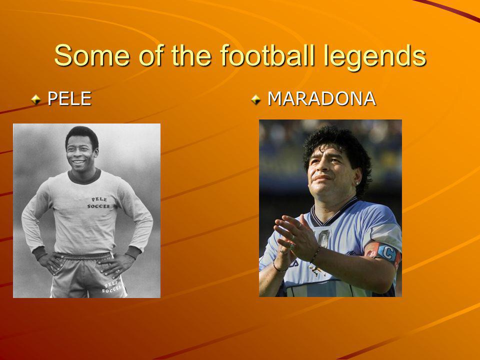 Some of the football legends PELEMARADONA