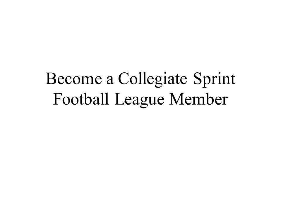 Become a Collegiate Sprint Football League Member