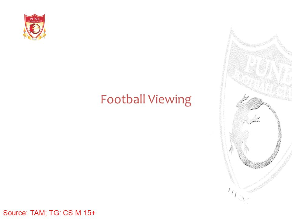 Football Viewing Source: TAM; TG: CS M 15+
