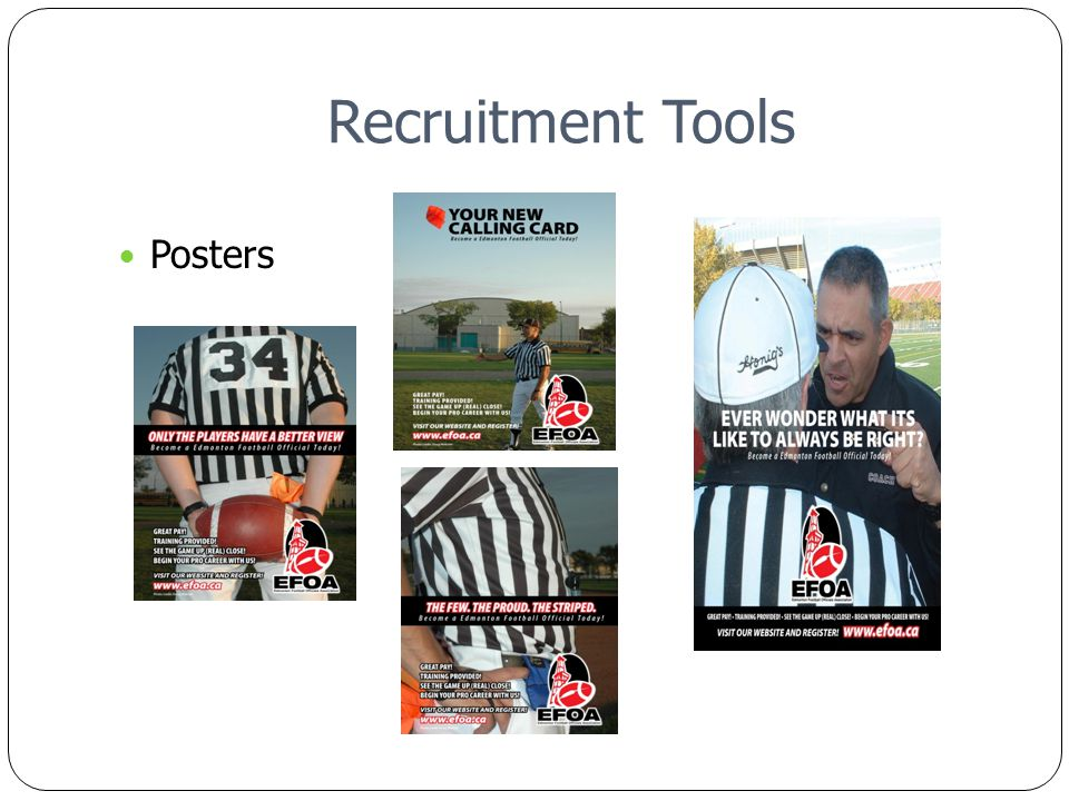 Recruitment Tools Posters