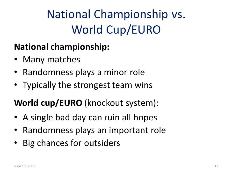 National Championship vs.