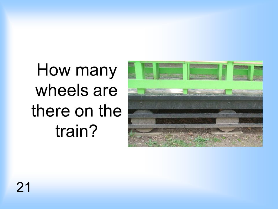 How many wheels are there on the train 21