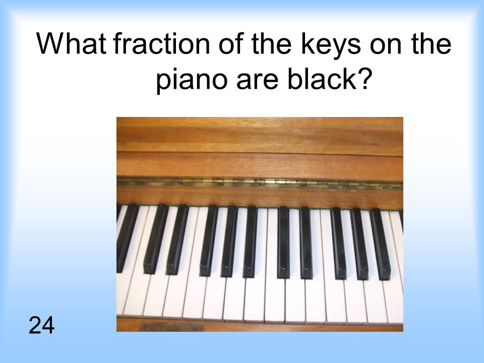 What fraction of the keys on the piano are black 24