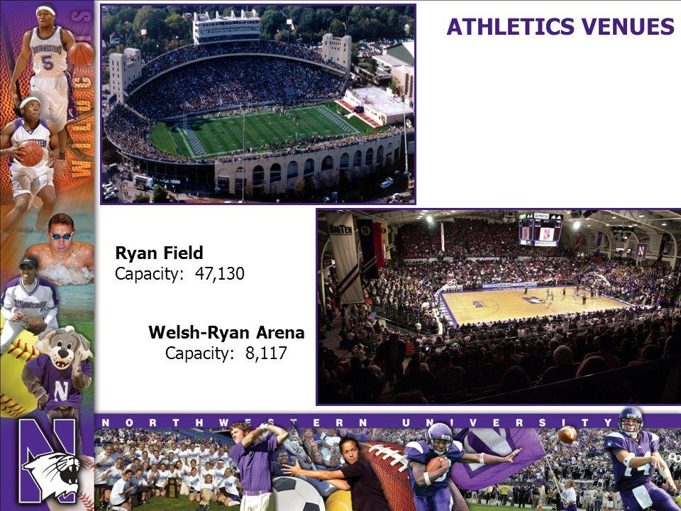 Ryan Field Capacity: 47,130 Welsh-Ryan Arena Capacity: 8,117 ATHLETICS VENUES