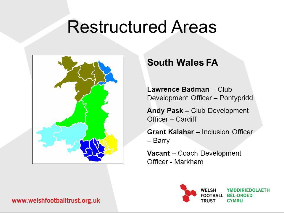 Remaining Areas North Wales Coast FA Nicola Anderson – Inclusion Officer – Rhyl Seth Jones – FDO – Conwy Alan Bickerstaff – FDO – Denbighshire Gareth Owen – FDO – Flintshire