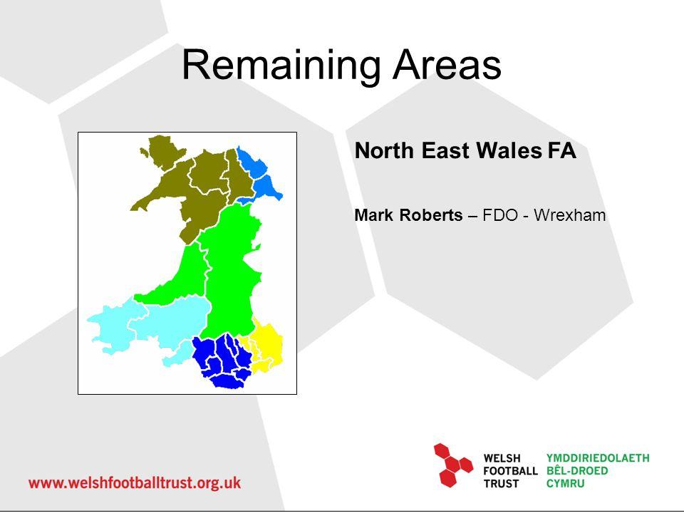 Remaining Areas West Wales FA Deb Wise – FDO – Pembrokeshire Colin Staples – FDO – Carmarthenshire Mickey Miles – FDO - Neath PT Rob Thomas – FDO - Swansea