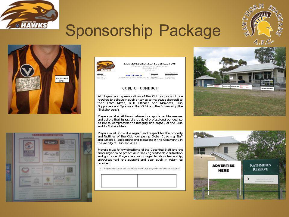 Sponsorship Package Sponsor s logos here