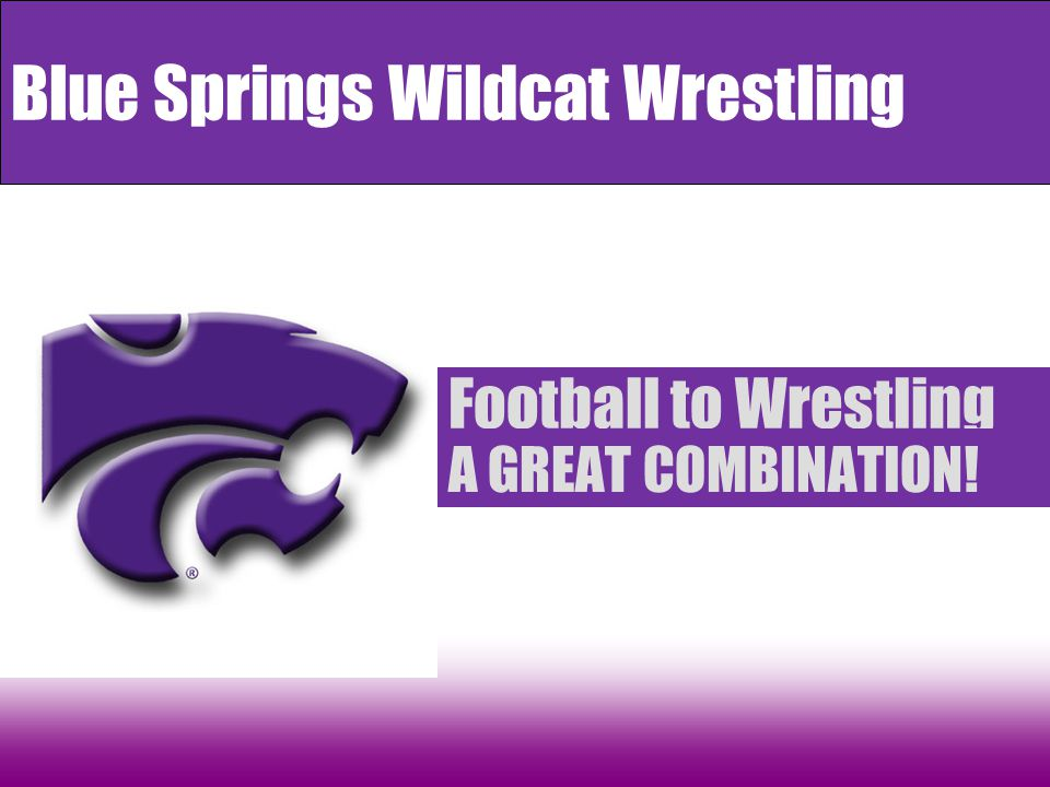 Football to Wrestling A GREAT COMBINATION! Blue Springs Wildcat Wrestling