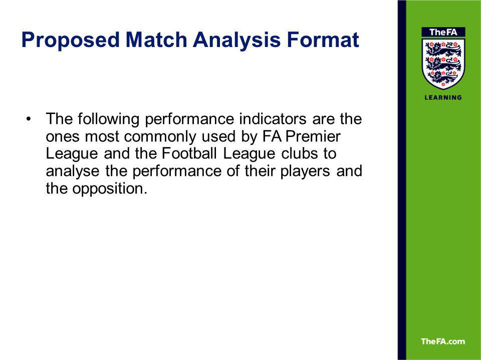 Proposed Match Analysis Format 2.