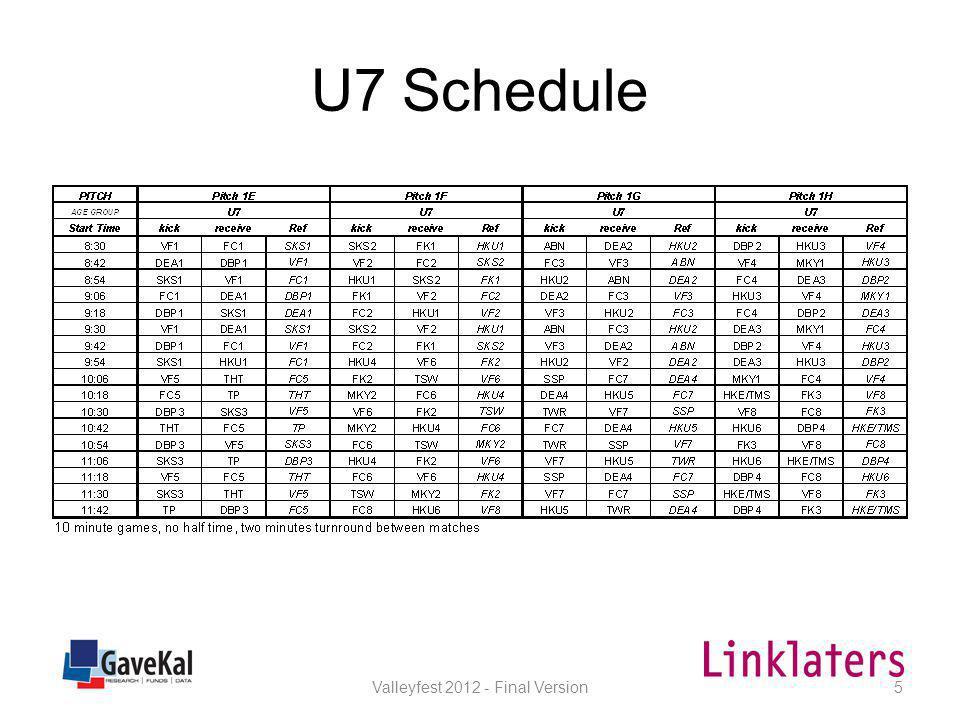 U8 Schedule Valleyfest 2012 - Final Version6