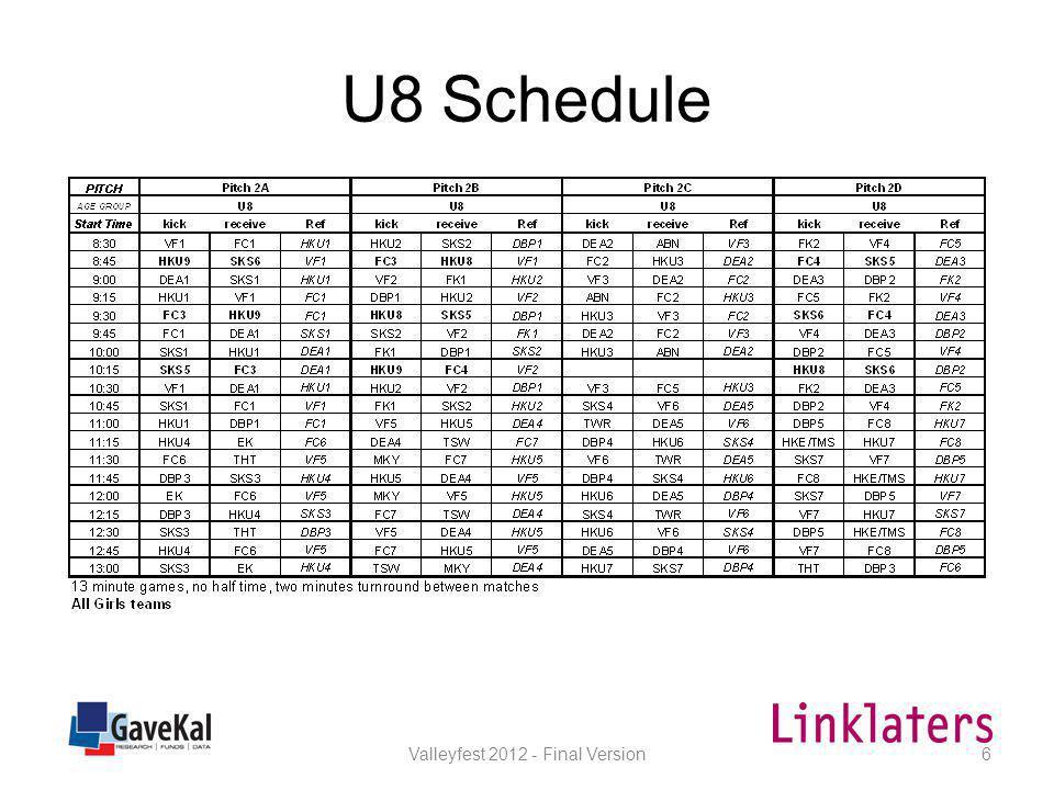 U9 Schedule Valleyfest 2012 - Final Version7