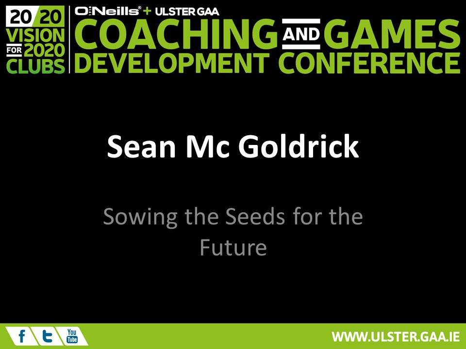Sean Mc Goldrick Sowing the Seeds for the Future