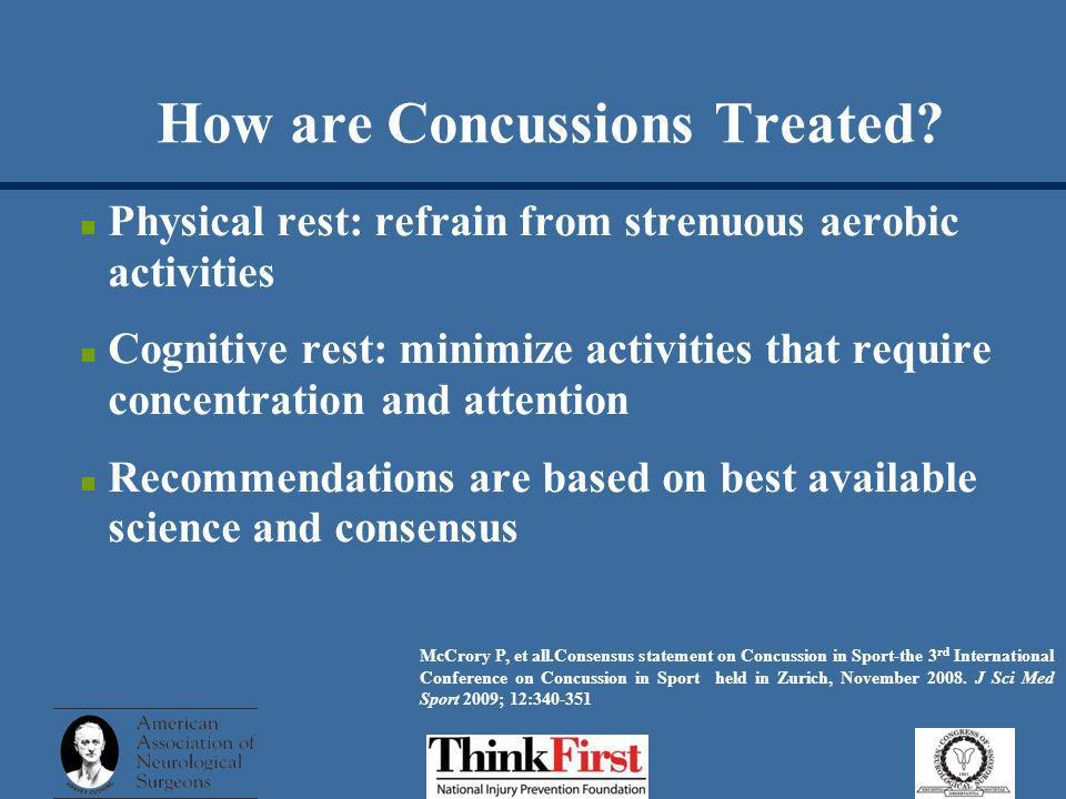 How are Concussions Treated.
