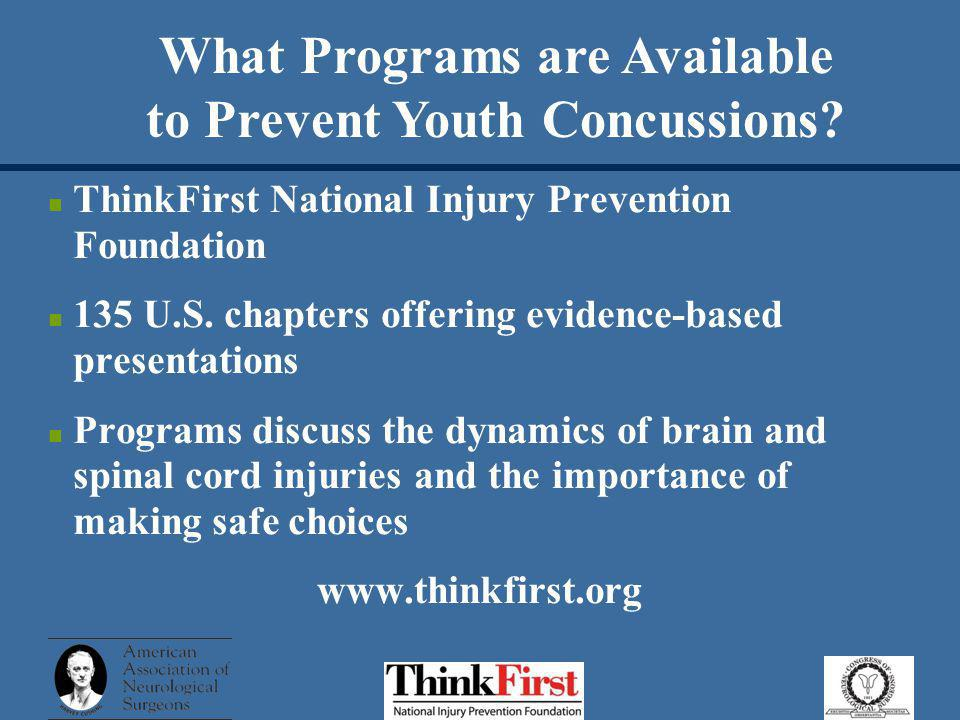 What Programs are Available to Prevent Youth Concussions.