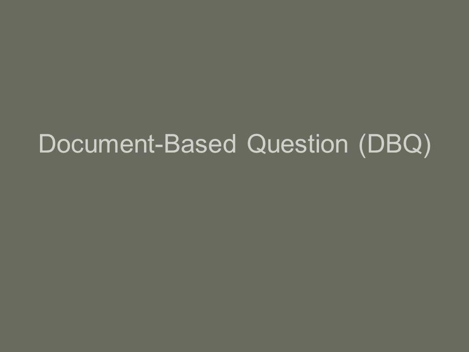 Document-Based Question (DBQ)