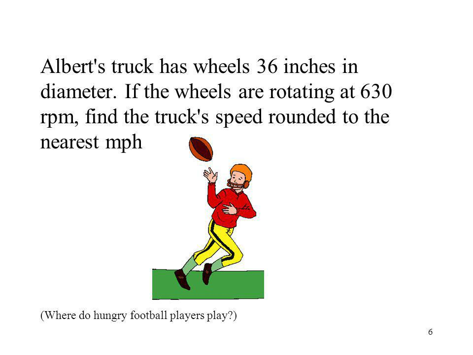 7 Answer 67mph (In the Supper Bowl)