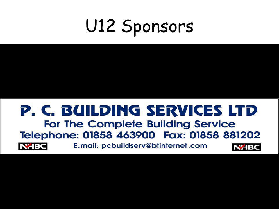 U12 Sponsors