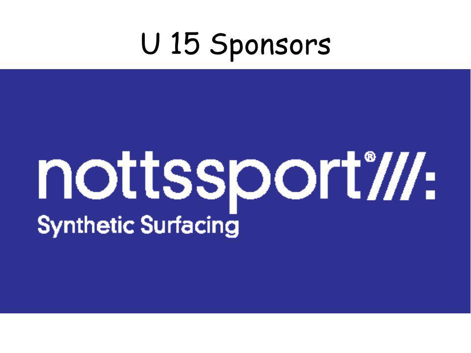 U 15 Sponsors