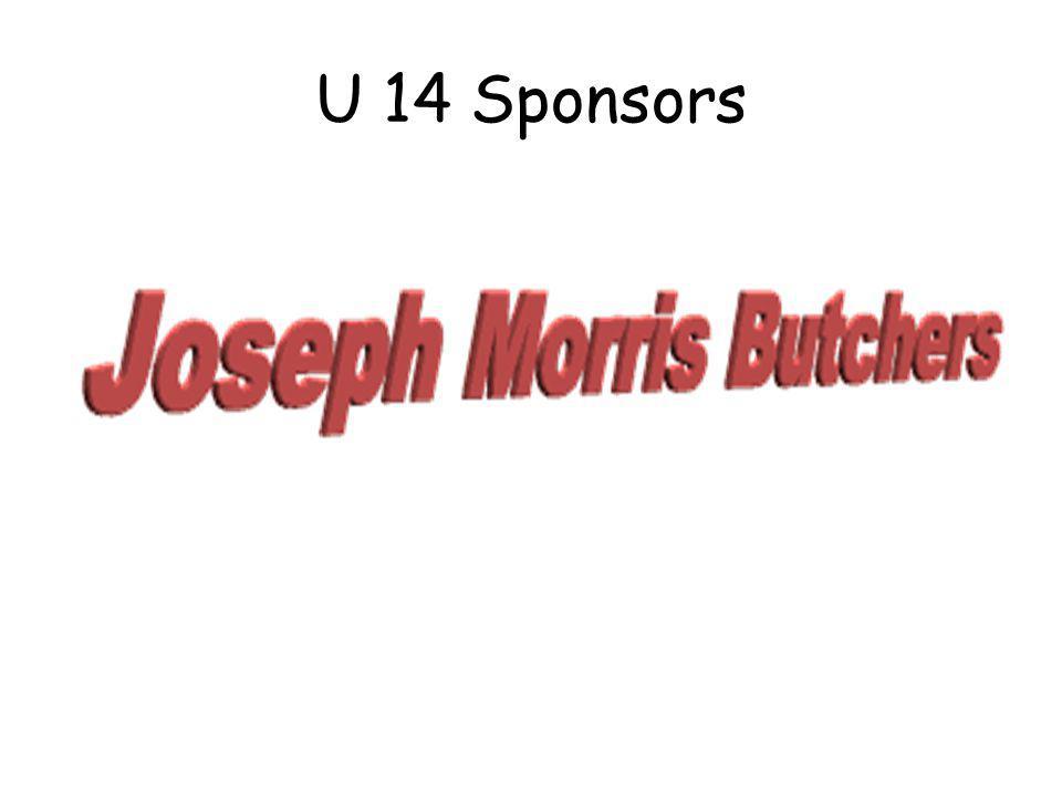 U 14 Sponsors