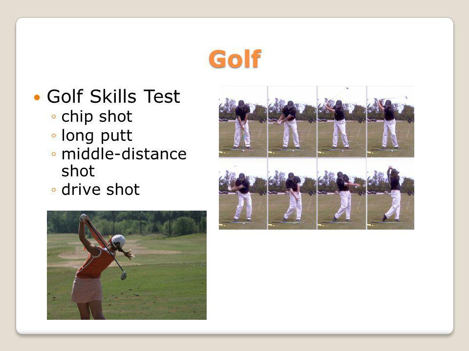 Golf Golf Skills Test chip shot long putt middle-distance shot drive shot