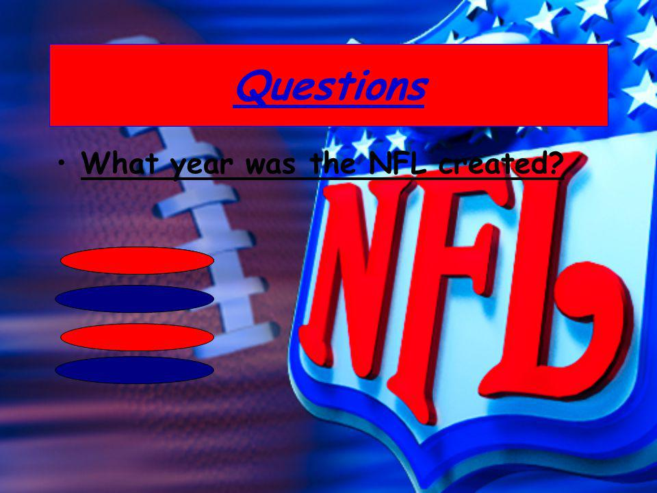 What year was the NFL created?