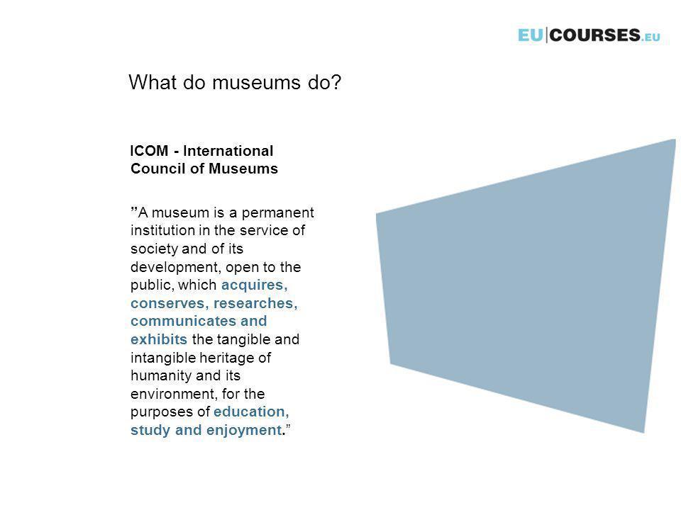 What do museums do.U.K.