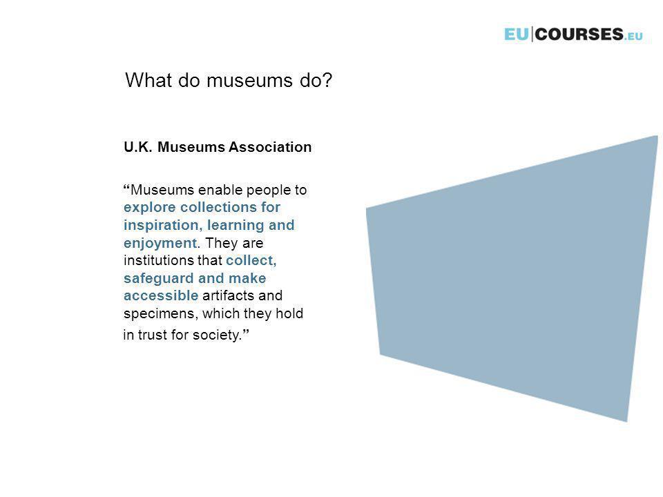 What do museums do. U.K.