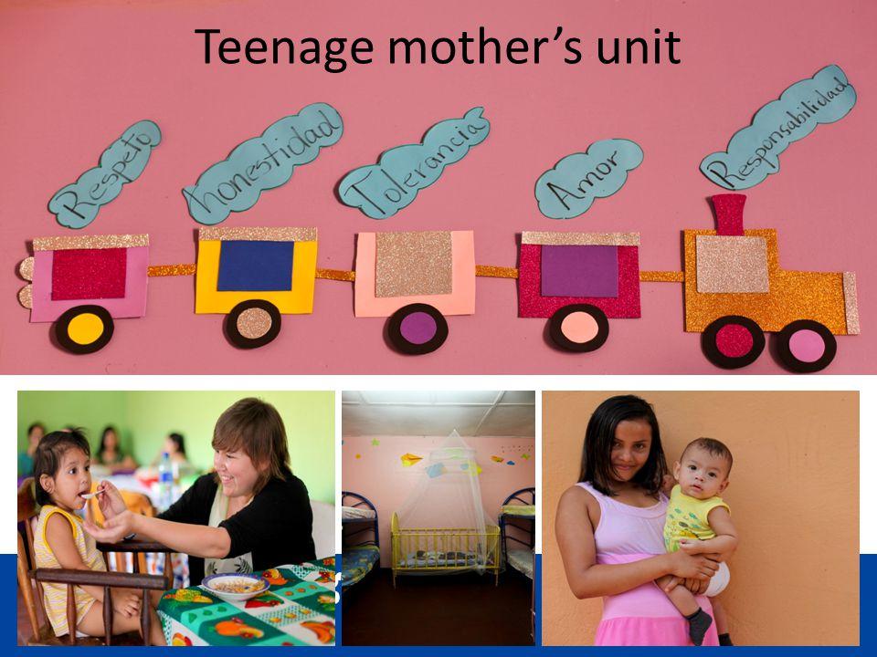 Teenage mothers unit