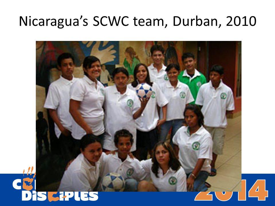 Nicaraguas SCWC team, Durban, 2010
