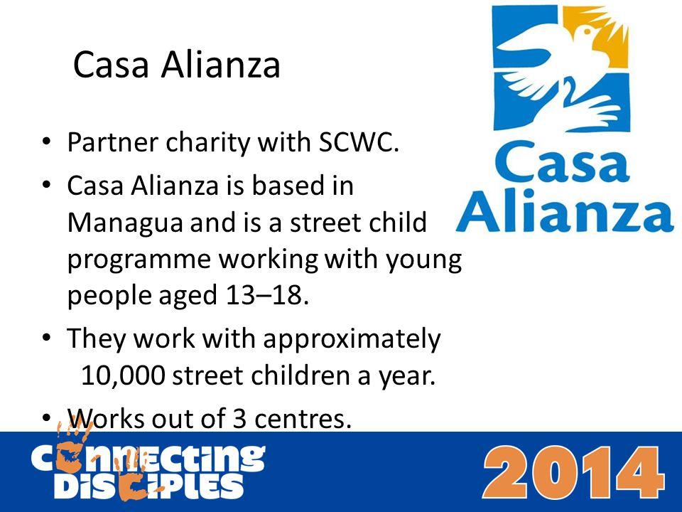 Casa Alianza Partner charity with SCWC.