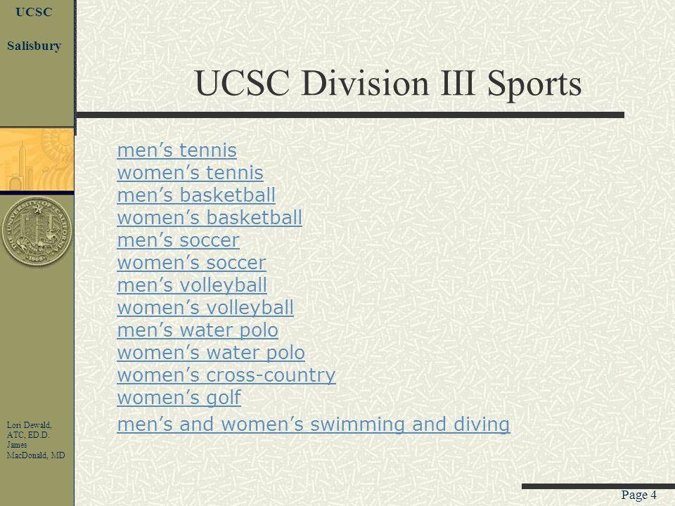 Page 3 UCSC Lori Dewald, ATC, ED.D.