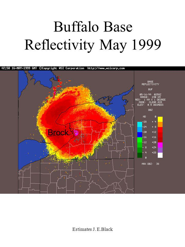 Estimates J. E.Black Brock Buffalo Base Reflectivity May 1999