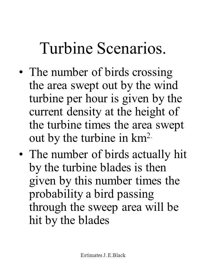 Estimates J. E.Black Turbine Scenarios.