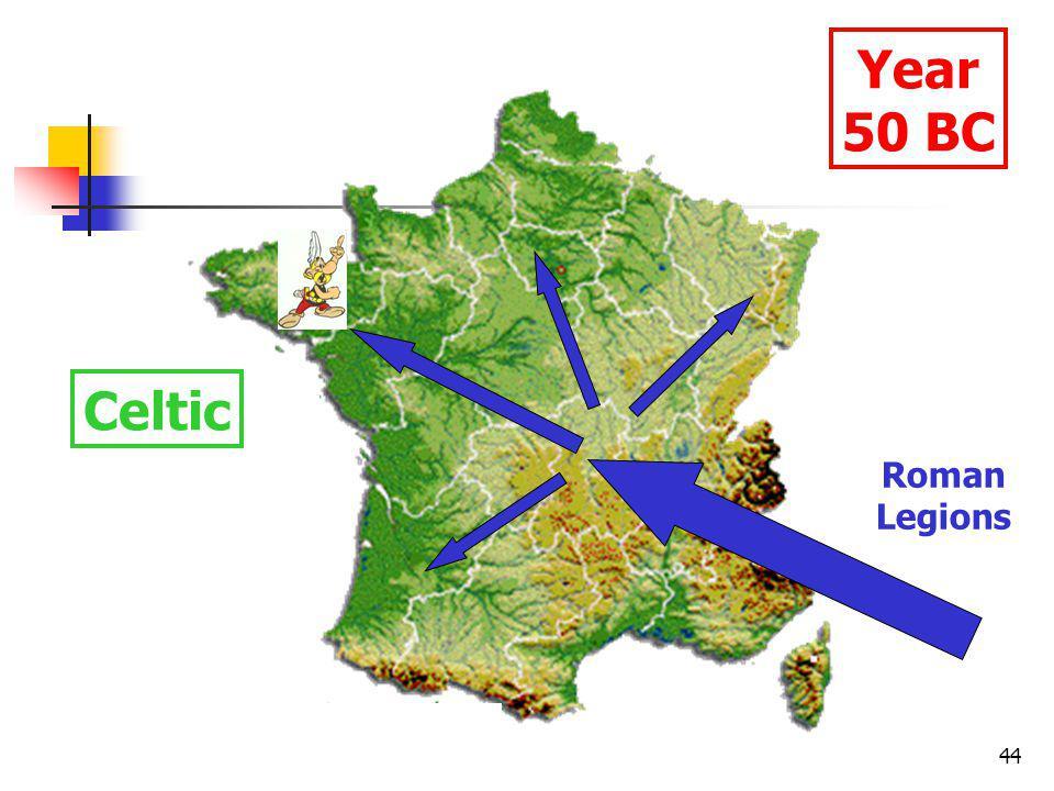 44 Year 50 BC Celtic Roman Legions