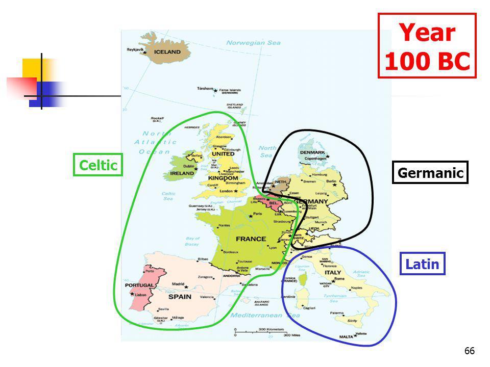 66 Year 100 BC Germanic Celtic Latin