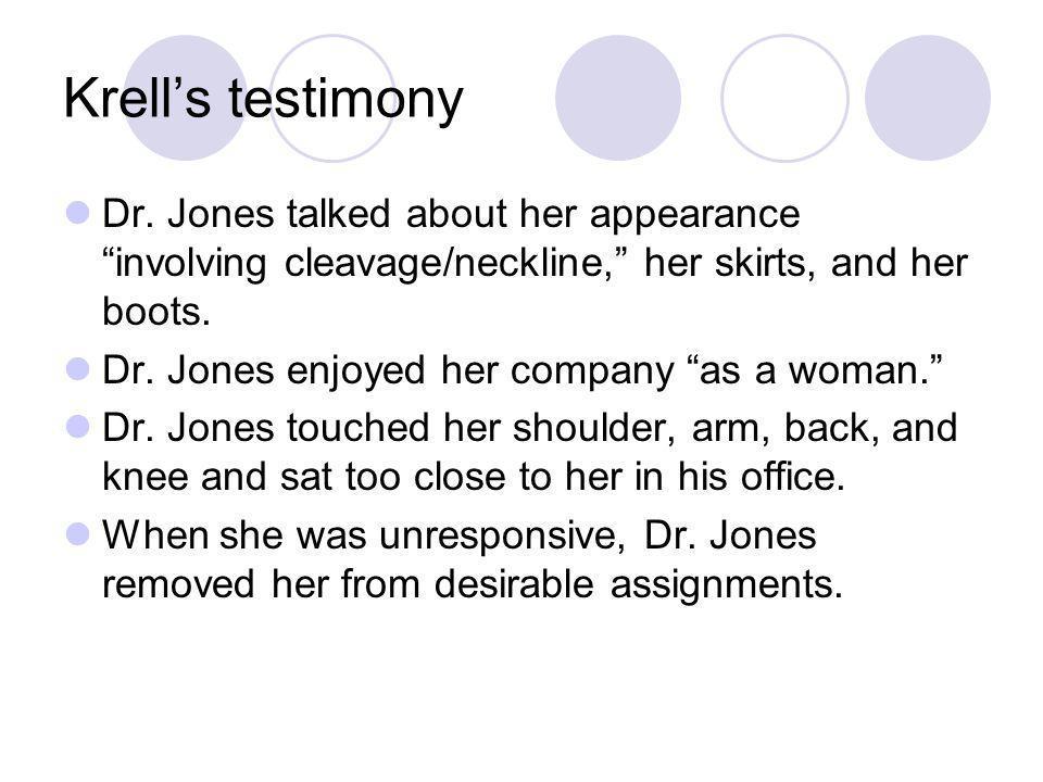 Krells testimony Dr.