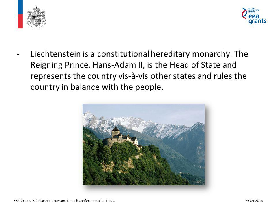 -Liechtenstein is a constitutional hereditary monarchy.