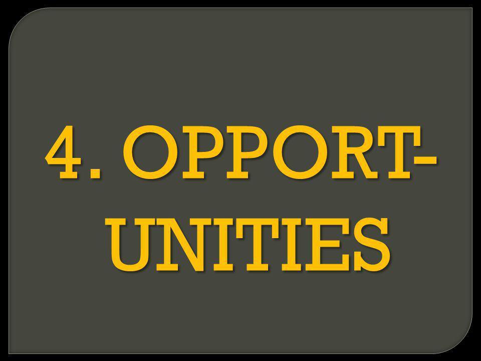 4. OPPORT- UNITIES