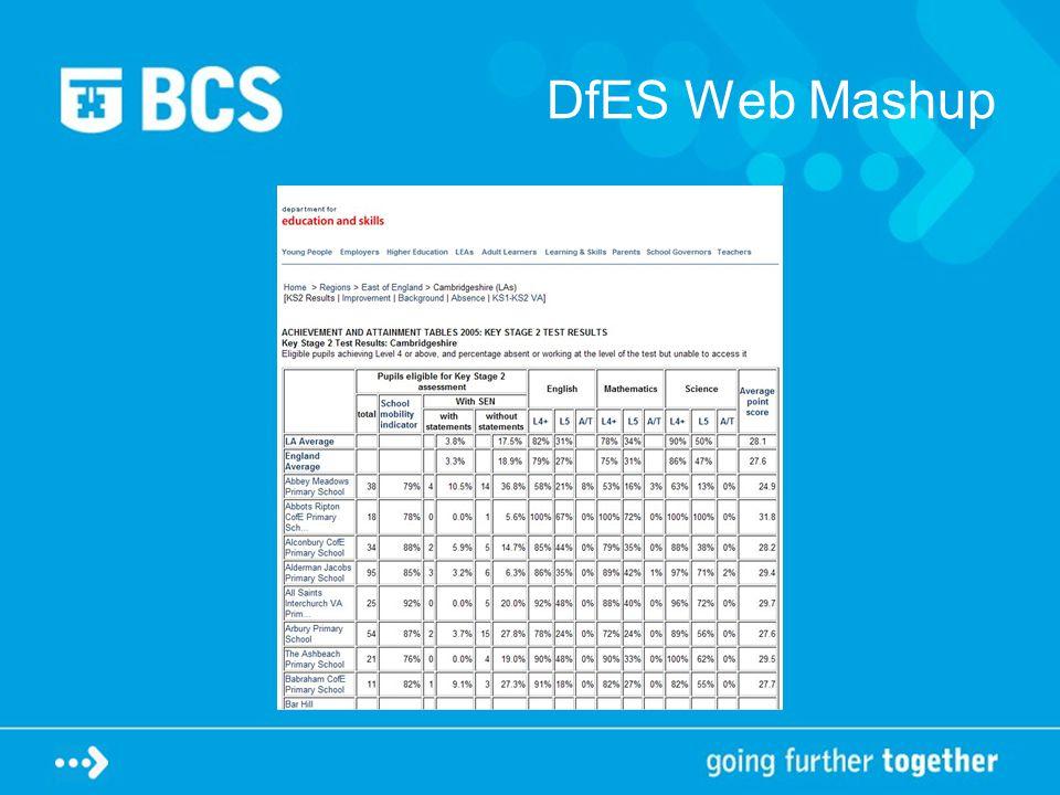 DfES Web Mashup