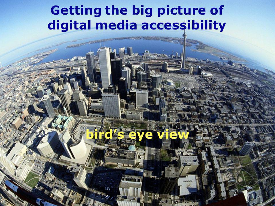 12 International Telecommunication Union birds eye view Getting the big picture of digital media accessibility