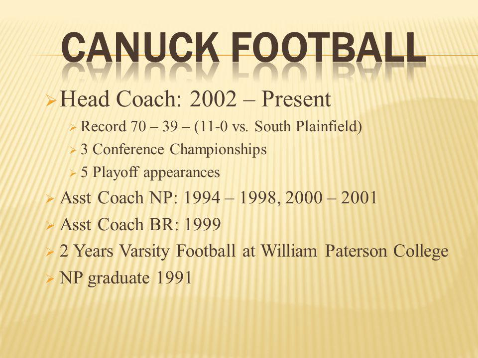 Head Coach: 2002 – Present Record 70 – 39 – (11-0 vs.
