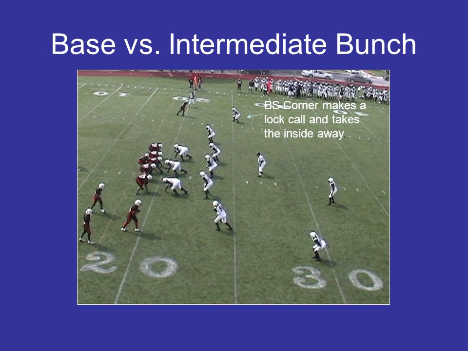 Base vs. Intermediate Bunch BS Corner makes a lock call and takes the inside away.